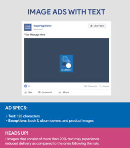 Faceboook Ad Sizes - Image Ad With Text